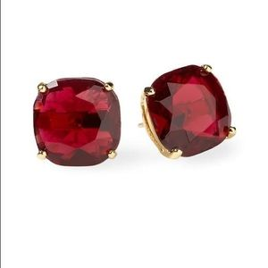 Red kate spade studs